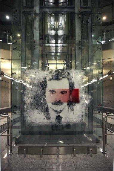 """ΣΤΑΘΜΟΣ ΑΓ. ΔΗΜΗΤΡΙΟΣ Κώστας Ηρακλής Γεωργίου, """"εις ανάμνηση του Αλέξανδρου Παναγούλη"""""""