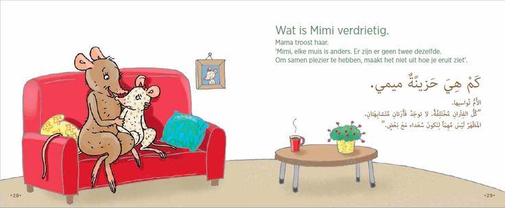 pagina uit 'Mimi is cool' Nederlands-Arabisch van nik-nak.eu