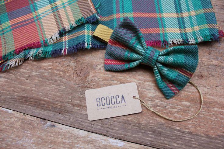 Scocca Papillon - tartan - 100% tessuto vintage - manifattura sartoriale - made in italy | #bowtie #vintage #tartan #hipster #sartorial #tissue #cloth #stitched