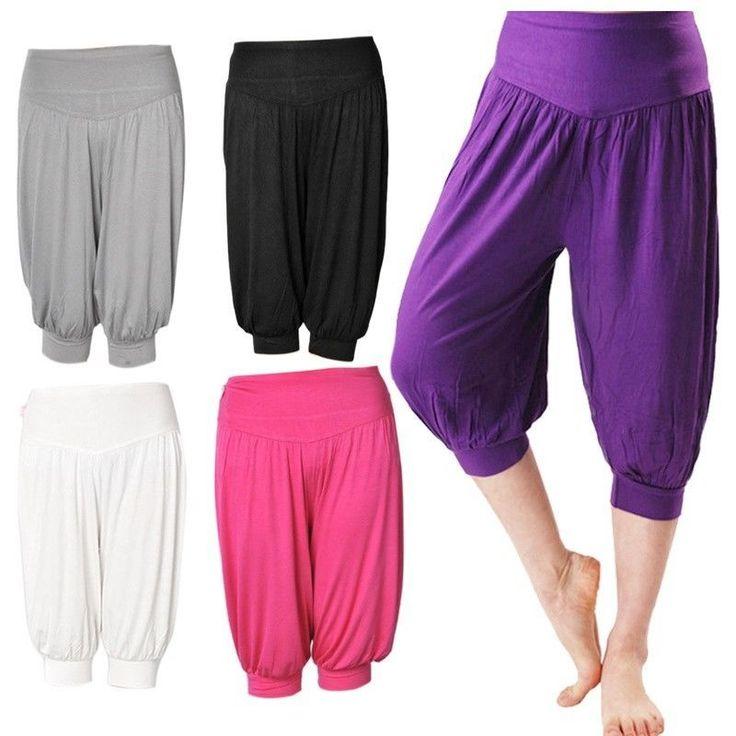 Women Sports Trousers Lady Wushu Training Sweatpants Athletic Yoga Capri Pants