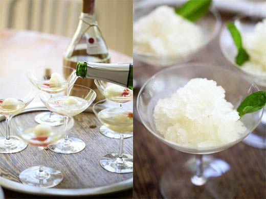 Lemon Champagne Mint Cocktails turned into Granita - Adult Easter ...