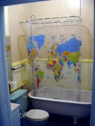 14 best images about old shower cirtains on pinterest platform beds what is and bright colors - Old world map shower curtain ...