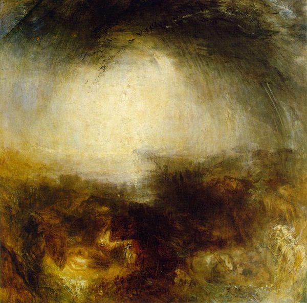 William Turner - Ombre et ténèbres - Le soir du déluge