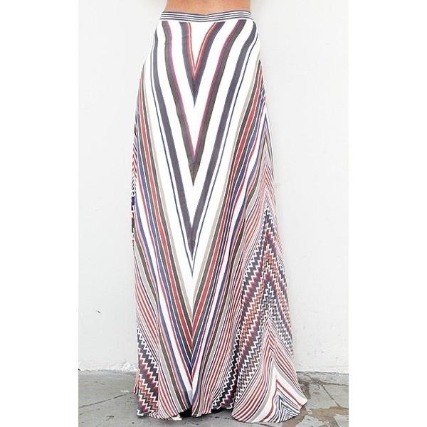 Beyond Vintage Maxi Circle Skirt found on Polyvore