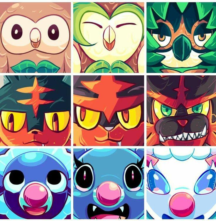Alola Region Starter Pokémon.
