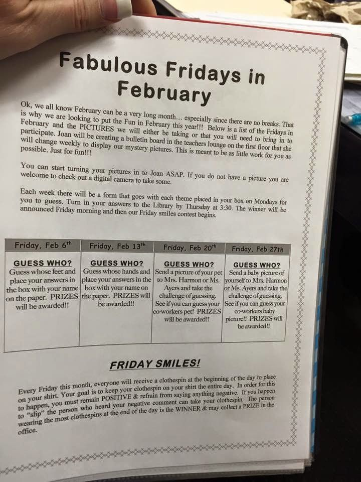 The Principal Blog: Fabulous February Staff Fun!!!