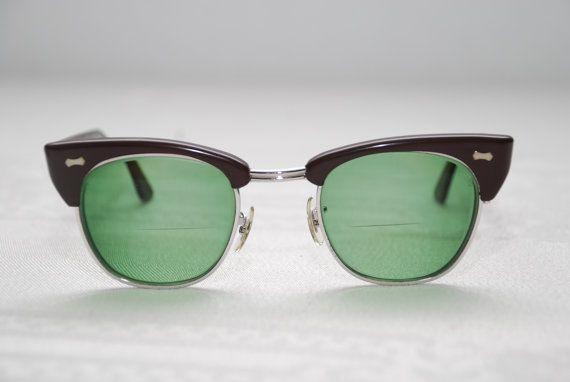 Vintage Cat Eyeglasses Brown Plastic With Metal by Nogginsandnapes, $42.00