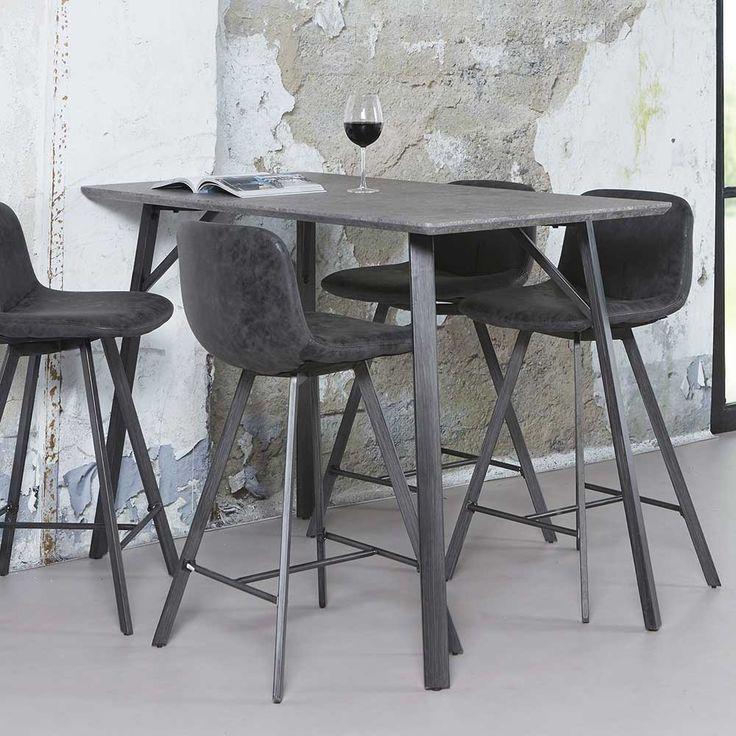 Küchenbartisch in Schwarz Grau Stahl Jetzt bestellen unter: https://moebel.ladendirekt.de/kueche-und-esszimmer/bar-moebel/stehtische/?uid=ab3b1712-0569-5ae1-ab29-48f23d752a2c&utm_source=pinterest&utm_medium=pin&utm_campaign=boards #tischgestell #kueche #hochtisch #stehtische #esszimmer #bartisch #barmoebel