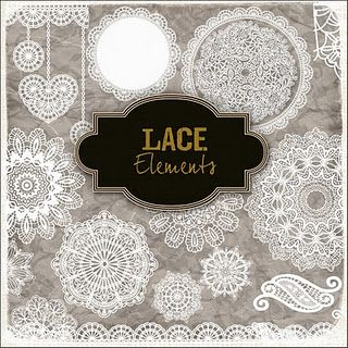 freebie Lace Elements from Friendly Scrap
