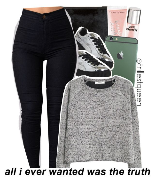 """""""10-07-2016."""" by trillestqueen ❤ liked on Polyvore featuring Victoria's Secret, Puma and MANGO"""