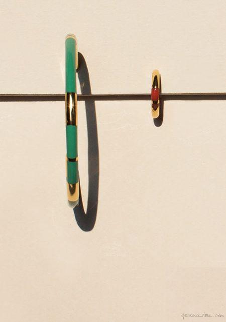 Aurelie Bidermann Positano Large Hoop Earring and Positano Small Hoop Earring / Garance Doré