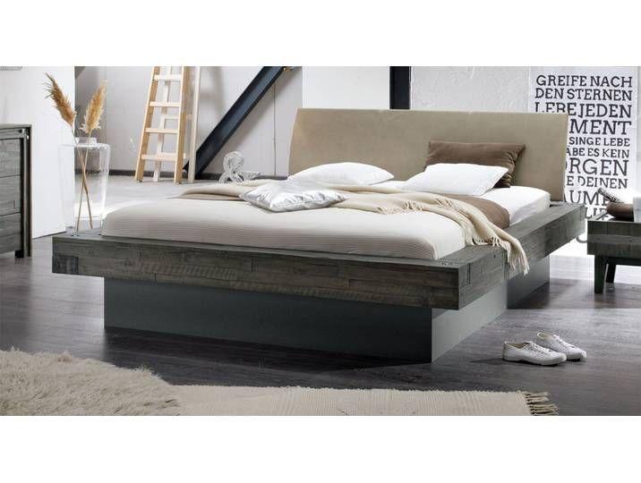 Bett In Balkenoptik Akazie Weiss Mit Bettkasten 180x200 Cm Romero
