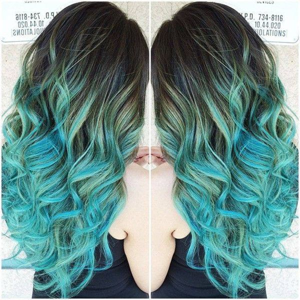 DIY 2015 your unique hair color the lake blue ombre