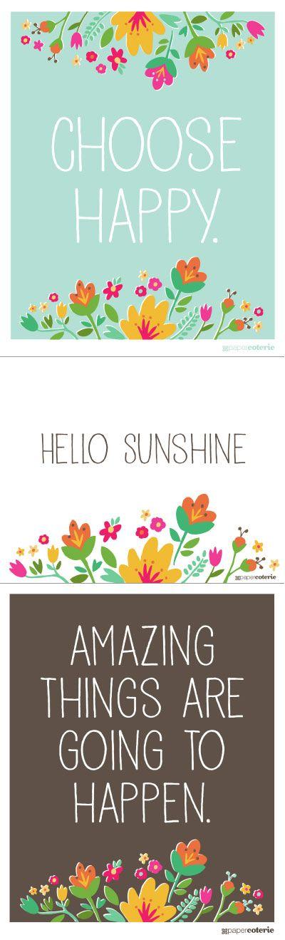 Free Positive Printables
