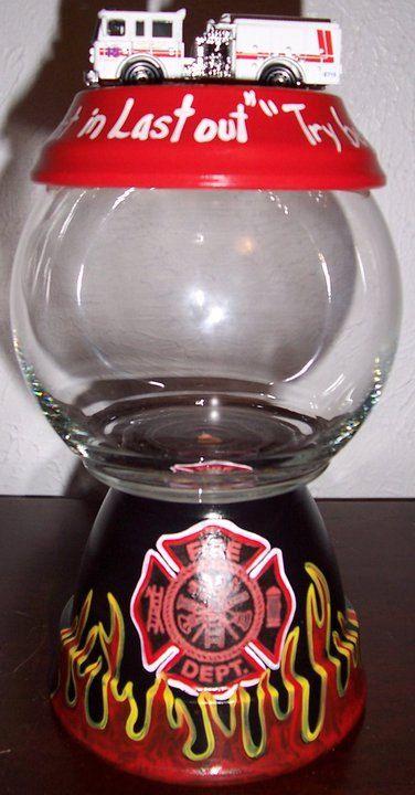Fireman Themed Candy Jar by punkimunki on Etsy