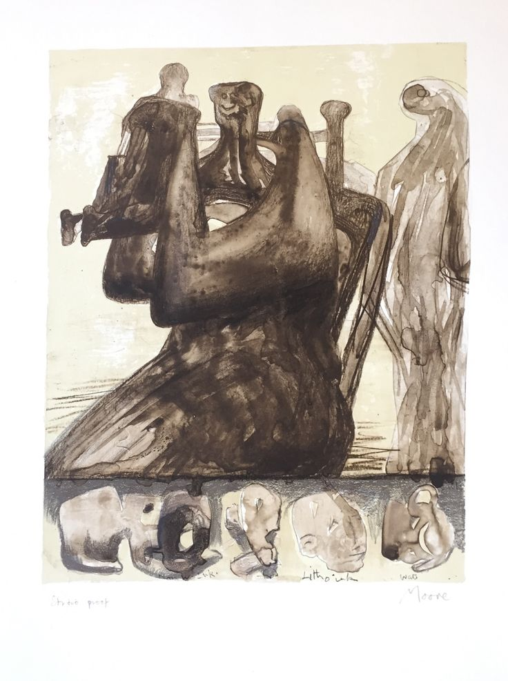 Henry Moore 'Mother and Child with Border Design'