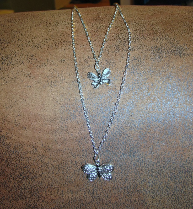 Double Strand Butterfly Necklace    https://www.facebook.com/photo.php?fbid=555255251174718=pb.534531073247136.-2207520000.1362871455=3