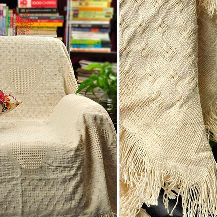 240 * 240 см 100% хлопок диван полотенце толщиной жаккард одеяло - slip-устойчивы винтаж диван бежевый бросает бесплатная доставка SP2229