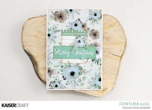 'Merry and Bright' Christmas Card Inspiration by Jowilna Nolte Design Team member for Kaisercraft Official Blog featuring their October 2017 'Mint Wishes' collection. Learn more at kaisercraft.com.au - Wendy Schultz - Kaisercraft Projects.