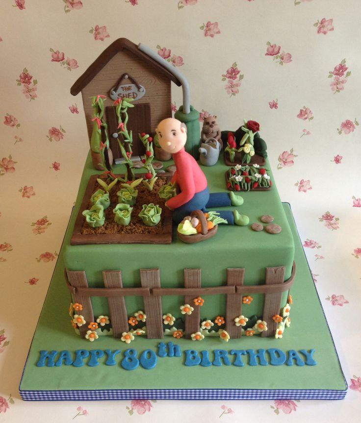 Allotment theme cake