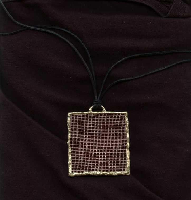 www.gallerysanivia.com  Handmade jewellery  Mosiężna miedziana zawieszka wisiorek z mosiądzu i miedzi ręcznie robiona biżuteria artystyczna