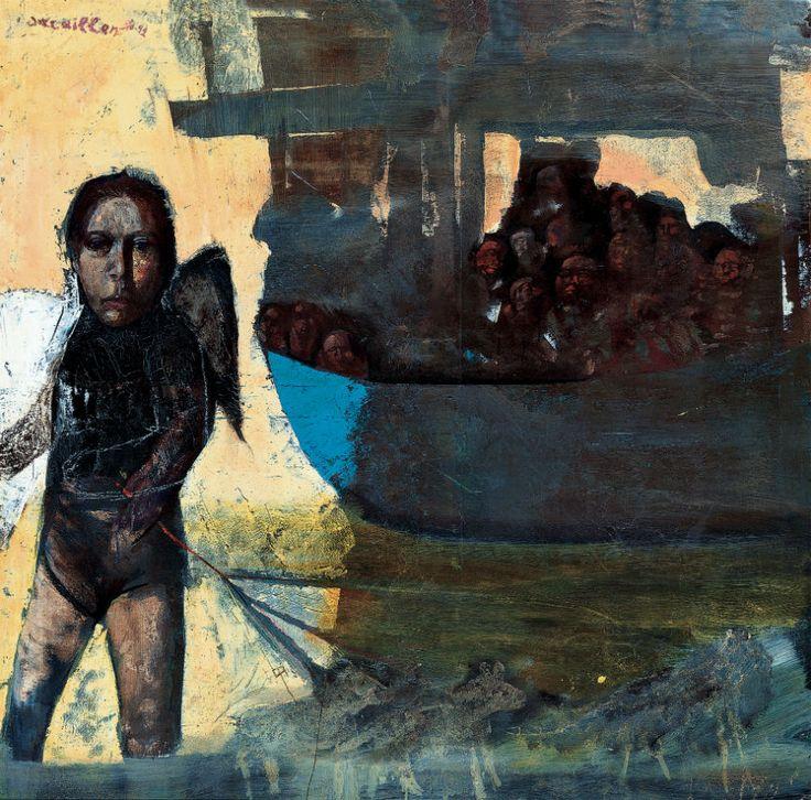 Ελ: 1990-92, λάδι σε μουσαμά, 110Χ110εκ / En: 1990-92, oil on canvas, 110Χ110cm