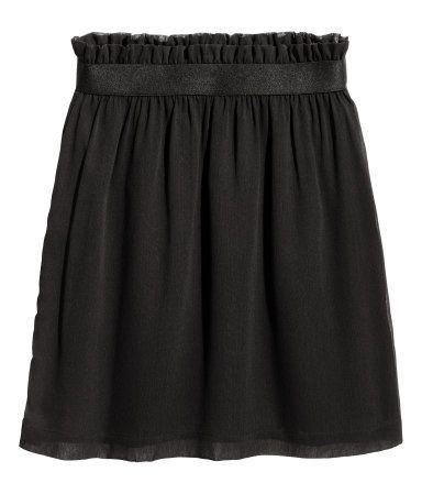 Crinkled chiffon skirt | Black | LADIES | H&M ZA