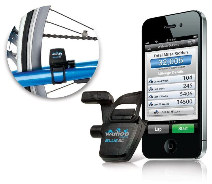 Sensore SC 2 Bluetooth da bici di Wahoo Odometro   Blue SC include anche un odometro, che utilizza la memoria in esso contenuta per contare i chilometri percorsi – senza necessariamente dover salvare i dati in continuazione su iPhone (e quindi risparmiando ulteriormente la batteria). L'applicazione di Wahoo Fitness per l'odometro disponibile gratuitamente sull'App Store ti permette di avere i dati a portata di mano. In questo modo puoi sempre sapere quanta distanza  ...
