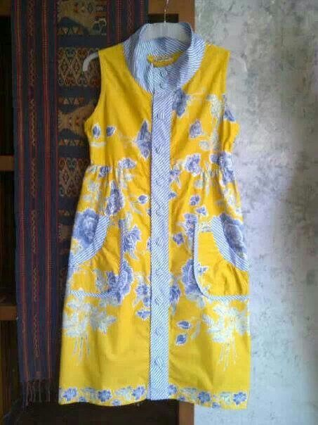 Batik in yellow