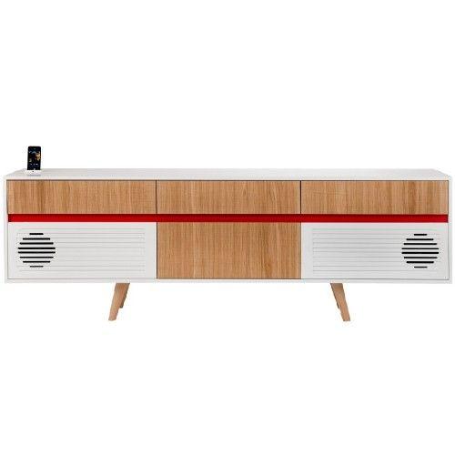 Skap X madia con impianto stereo di Miniforms