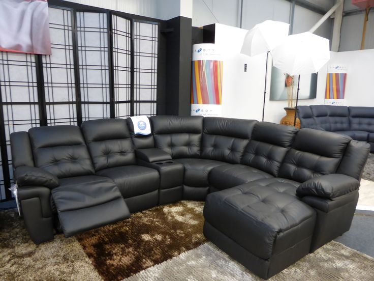 Living Room Furniture Tufted Black Authentic Leather Corner Sofa With  Chaise and Recliner Lazy Boy Leather - 25+ Best Ideas About Lazy Boy Furniture On Pinterest Create Your