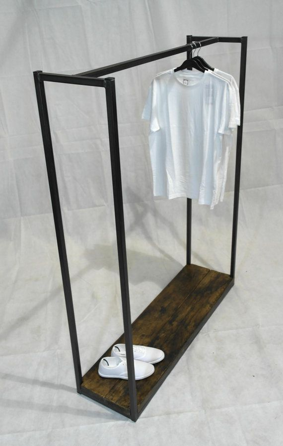 Vintage Industrial Clothes Rail / Display Rail  - Handmade in the UK - Home or Retail - Various timber finishes available (see images)  The Item: