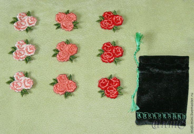 Купить вышивка набор 9 шт. роза розы розочки для скрапа для одежды - вышивка шелком