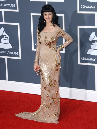 Style flashback: Katy Perry in a dazzling Zac Posen gown at the 2010 Grammy's