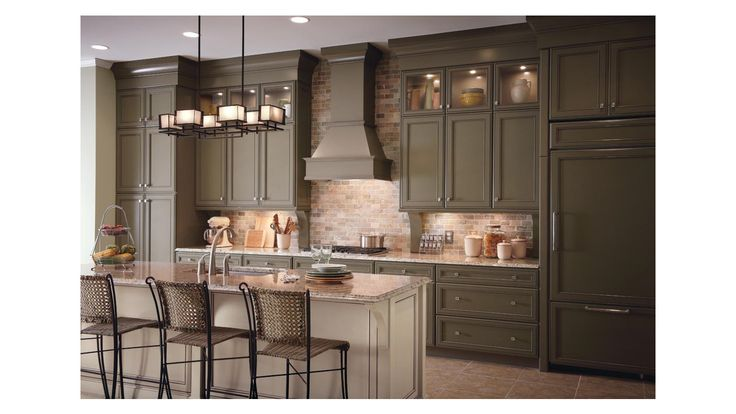 Two New Paint Colors From Kraftmaid Cabinetry Include Sage