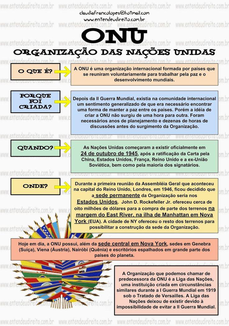 ONU - ORGANIZAÇÃO DAS NAÇÕES UNIDAS