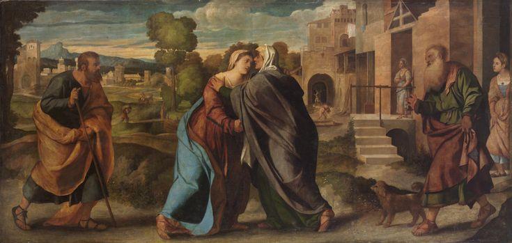 Palma il Vecchio. The Visitation. 1520-1522. Kunsthistorisches Museum.