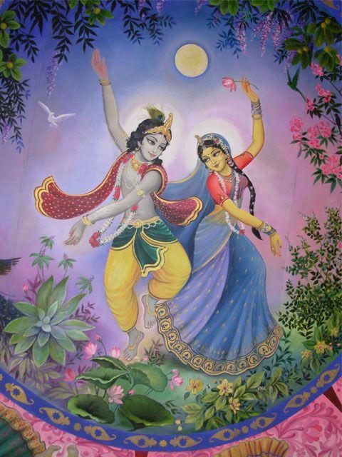 Radha and Krishna dancing