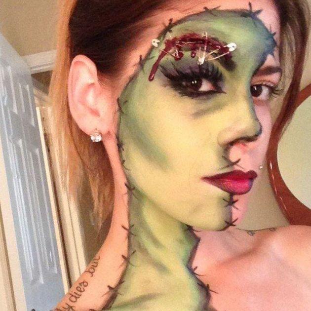 макияж зомби фото