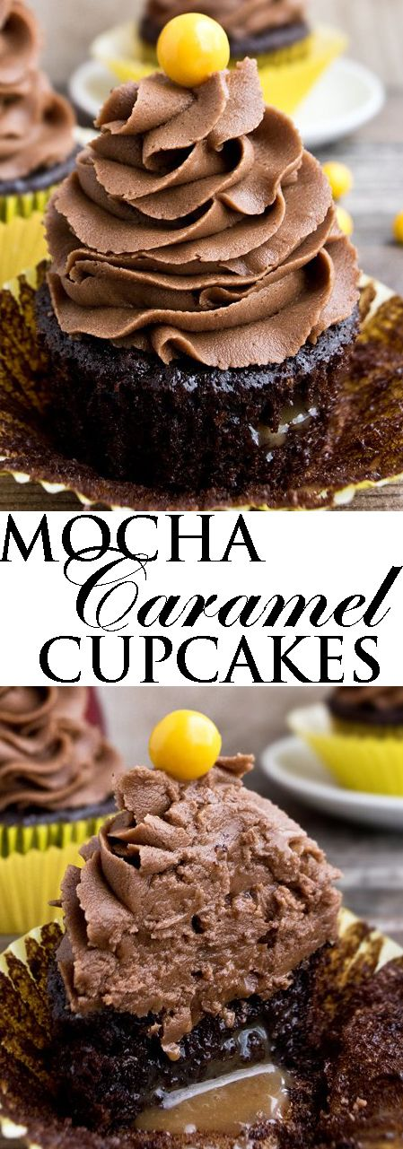 This rich MOCHA CARAMEL CUPCAKES recipe with mocha frosting combines the bold flavors of chocolate and coffee together. These easy chocolate mocha cupcakes are made from scratch and great for chocolate lovers. From cakewhiz.com