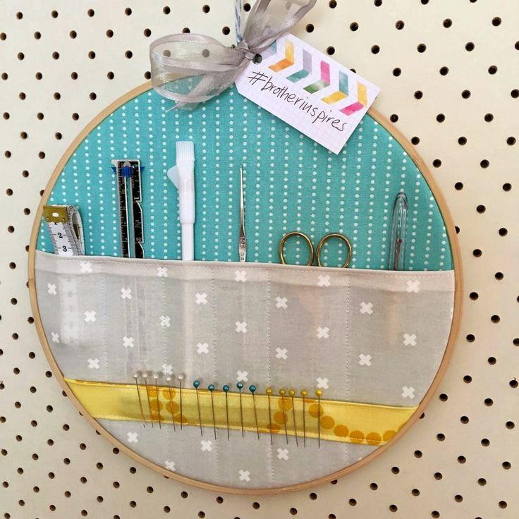 Embroidery Hoop Storage Pockets – Tutorial
