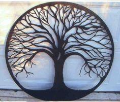 Tree Of Life Hand Cut Metal Plasma Cut Ideas. Would look beautiful on a wall