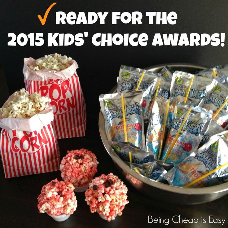 Being Cheap is Easy: Getting Ready for the 2015 Kids' Choice Awards {Plus a Printable Game!} #KidsChoiceDrink