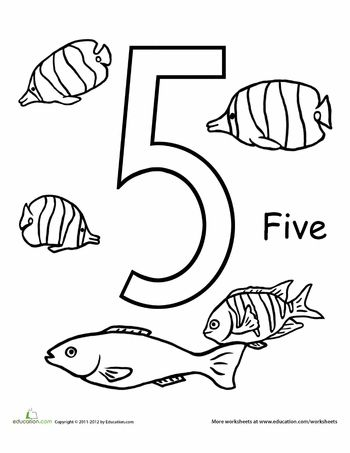 Count And Color Five Fish