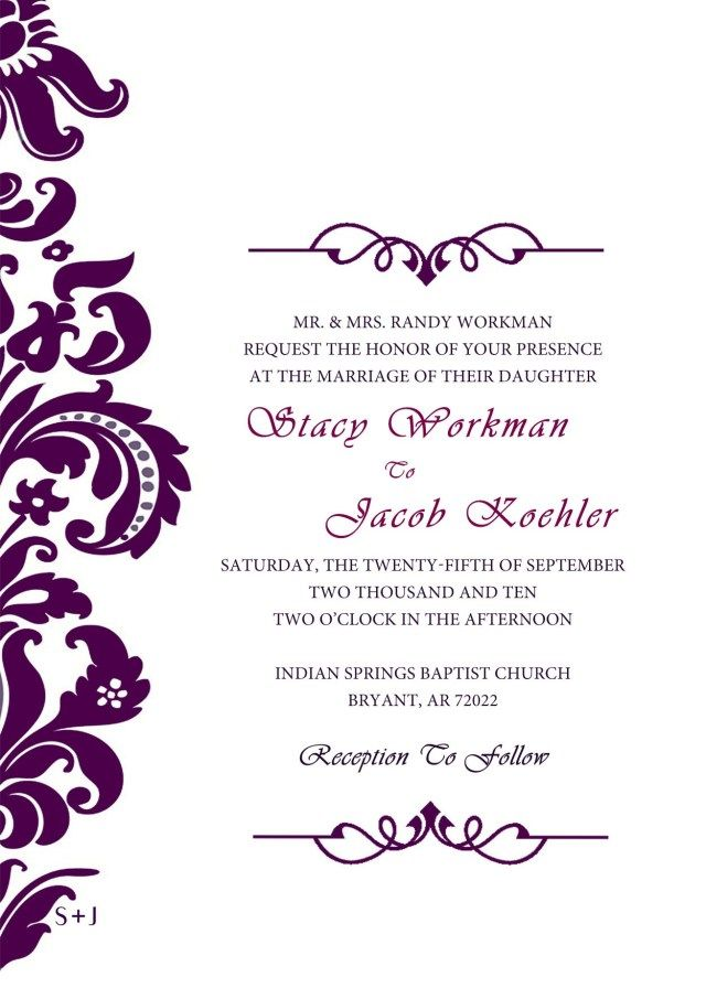 35 Great Image Of Free Wedding Invitation Templates For Word