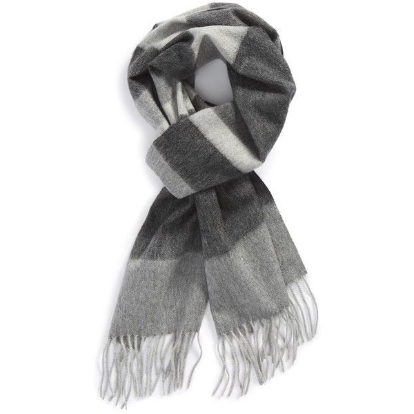 Stripe Cashmere Scarf Nordstrom ($66) ❤ liked on Polyvore featuring accessories, scarves, cashmere shawl, cashmere scarves, fringe scarves, striped scarves and fringe shawl