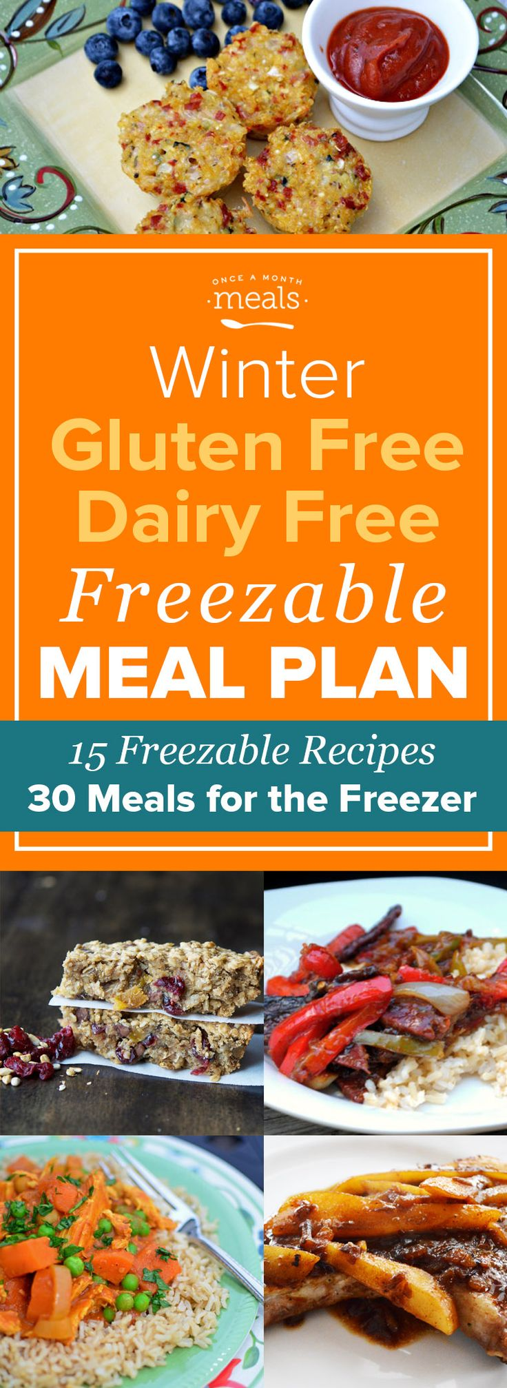 This Winter Gluten Free Dairy Free Freezer Menu is an ALL STAR menu of reader favorites.