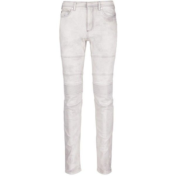 Neil Barrett Acid bleach skinny jeans ($575) ❤ liked on Polyvore featuring men's fashion, men's clothing, men's jeans, grey, mens super skinny stretch jeans, mens skinny jeans, mens stretch skinny jeans, mens skinny fit jeans and mens stretch jeans