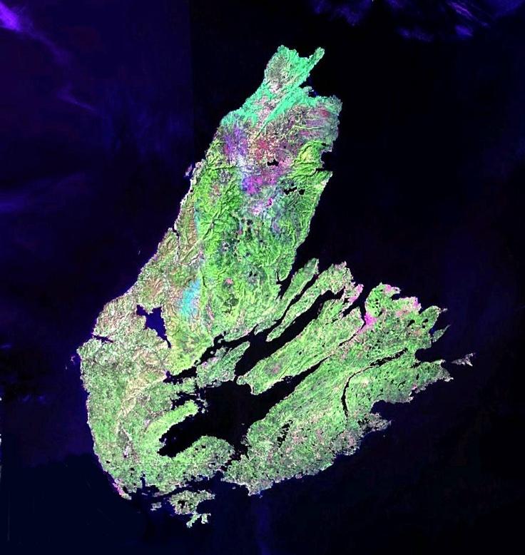 Cape Breton Island, Nova Scotia from space.