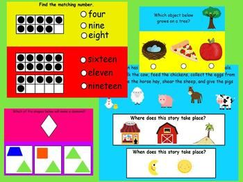No Fret Kindergarten Test Prep for Promethean... by Young and Lively Kindergarten | Teachers Pay Teachers